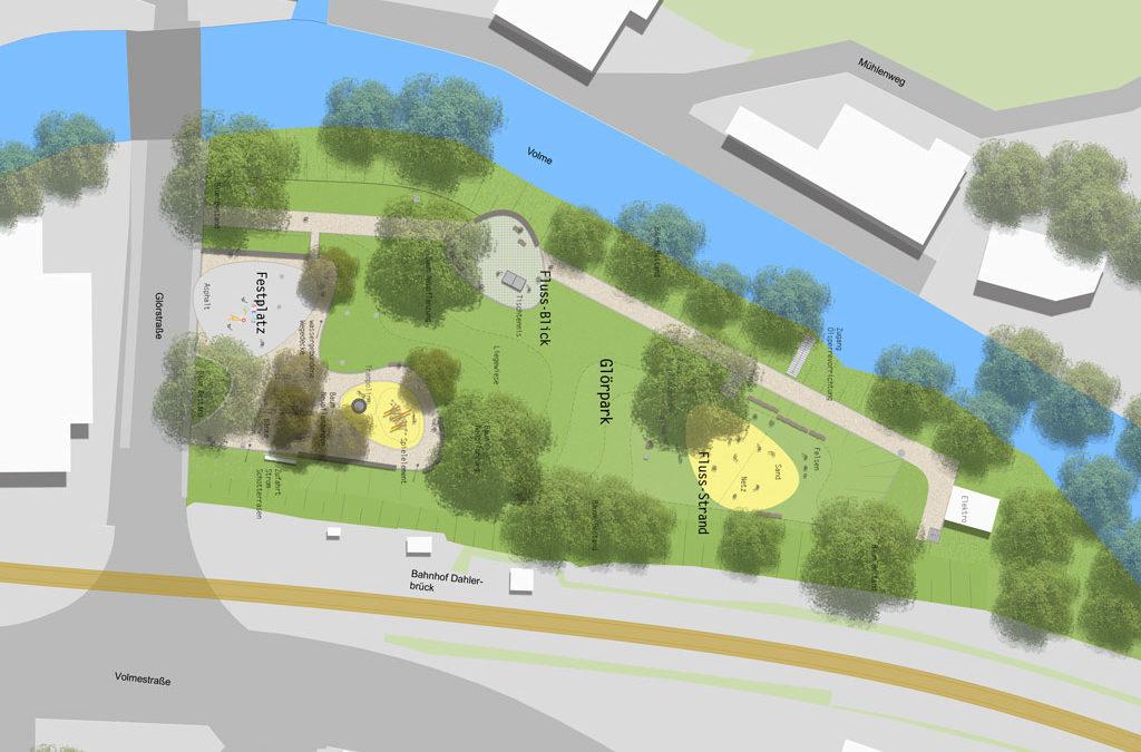 Neugestaltung des Glörparks in der Dahlerbrücker Ortsmitte