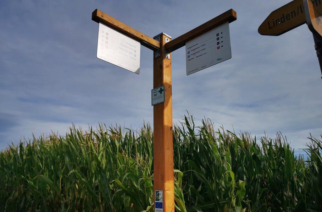 Wanderwegekreuz-System im oberen Volmetal – Bereich Kierspe